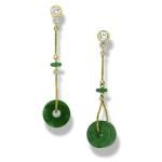 310674 Green Jade Drop Earrings